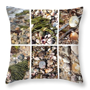 Seashore Collage Throw Pillow by Carol Groenen