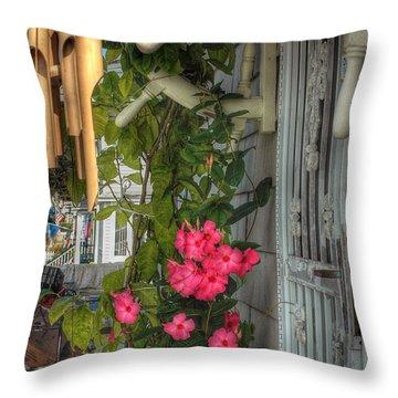 Seaside Porch Throw Pillow by Joann Vitali