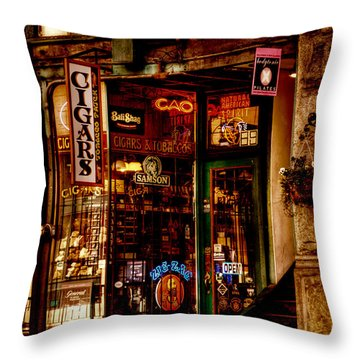 Seattle Cigar Shop Throw Pillow by David Patterson