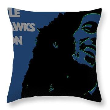 Seattle Seahawks Ya Mon Throw Pillow by Joe Hamilton