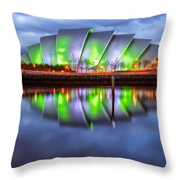 Secc Glasgow Scotland Throw Pillow by John Farnan