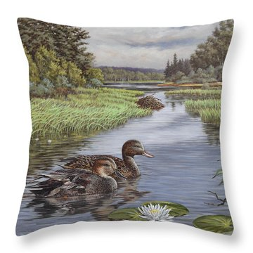 Secluded Rendezvous Throw Pillow by Richard De Wolfe
