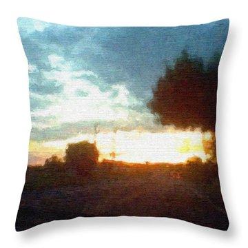 Second Sunset Throw Pillow by Pharris Art