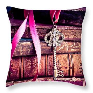 Secret Love Throw Pillow by Jan Bickerton