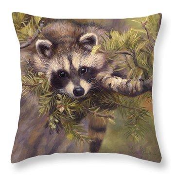 Seeking Mischief Throw Pillow by Lucie Bilodeau