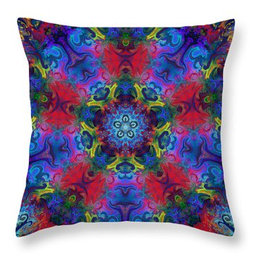 Seeking The Source Throw Pillow by Peggy Collins