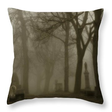 Seeped In Fog Throw Pillow by Gothicolors Donna Snyder