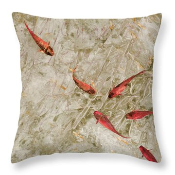 Sei Pesci Rossi   Throw Pillow by Guido Borelli