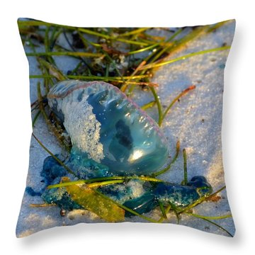 Self Portrait In Man O War On Navarre Beach Throw Pillow by Jeff at JSJ Photography