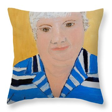 Self Portrait Throw Pillow by Pamela  Meredith