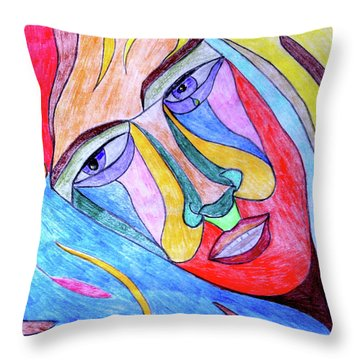 Selfless Throw Pillow by Donna Blackhall