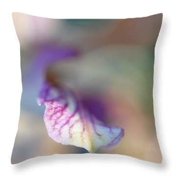Sensual Touch Of Exotic. Orchid I Throw Pillow by Jenny Rainbow
