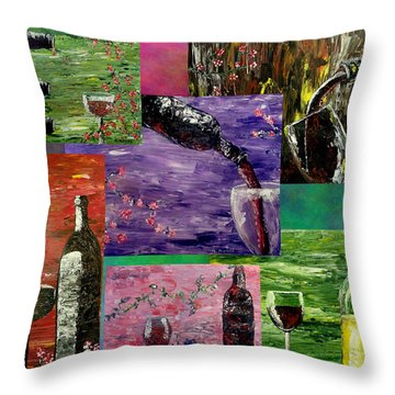 Sensual Wine  Throw Pillow by Mark Moore