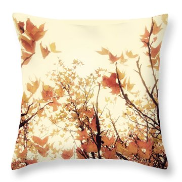 September Song Throw Pillow by Amy Tyler