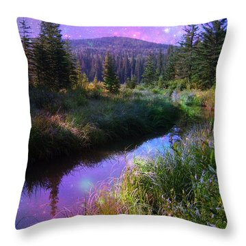Serene Mountain Moment Throw Pillow by Shirley Sirois