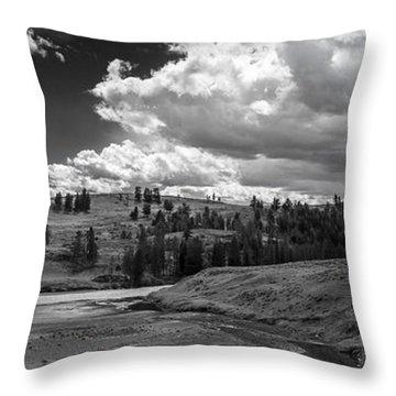 Serene Valley Throw Pillow by Jon Glaser