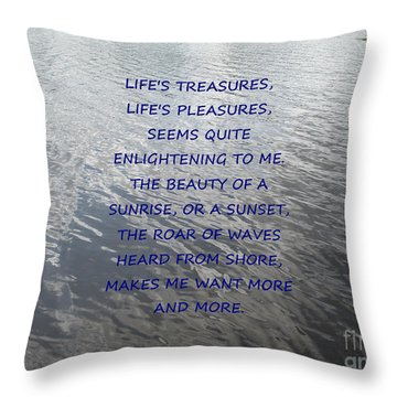 Serene Water Throw Pillow by Joseph Baril