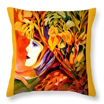 Serenity Throw Pillow by Carolyn LeGrand