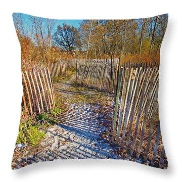 Serenity Trail.... Throw Pillow by Nina Stavlund