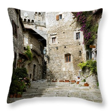 Sermoneta Throw Pillow by Fabrizio Troiani