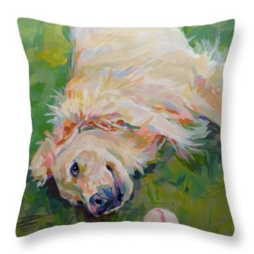 Seventh Inning Stretch Throw Pillow by Kimberly Santini