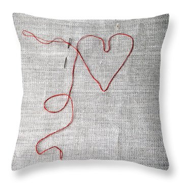Sewing A Heart Throw Pillow by Joana Kruse