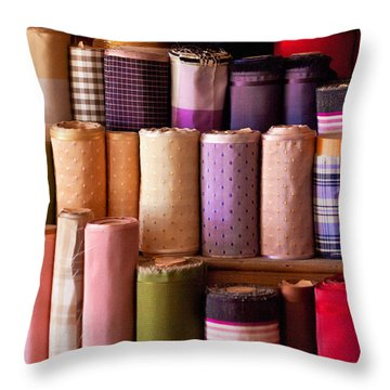 Sewing - Fabric  Throw Pillow by Mike Savad