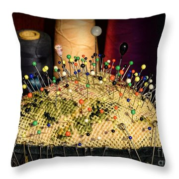 Sewing - The Pin Cushion Throw Pillow by Paul Ward