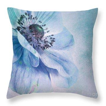 Shades Of Blue Throw Pillow by Priska Wettstein