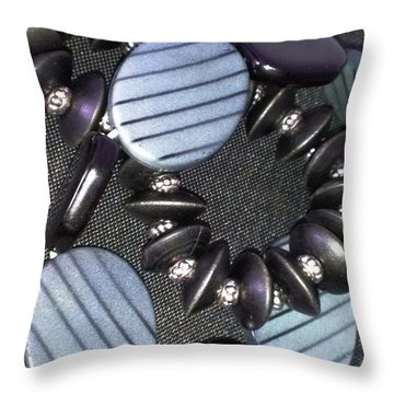 Shades Of Grey Throw Pillow by Catherine Ratliff