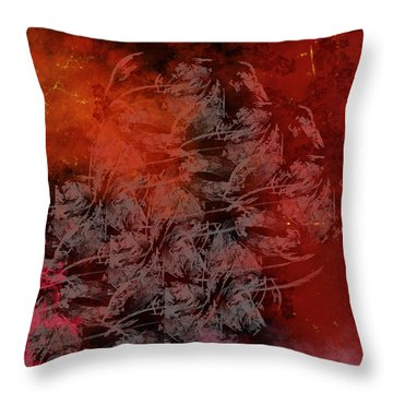 Shadow And Flame Throw Pillow by Christopher Gaston