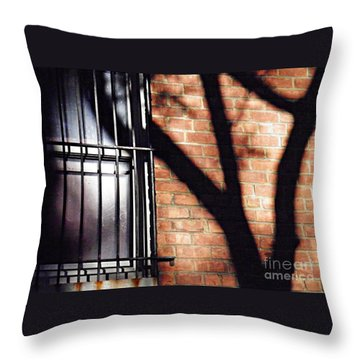 Shadow On The Wall Throw Pillow by Sarah Loft