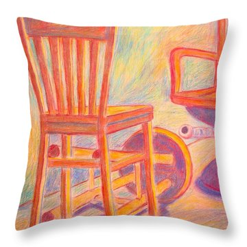 Shadow Play Throw Pillow by Kendall Kessler