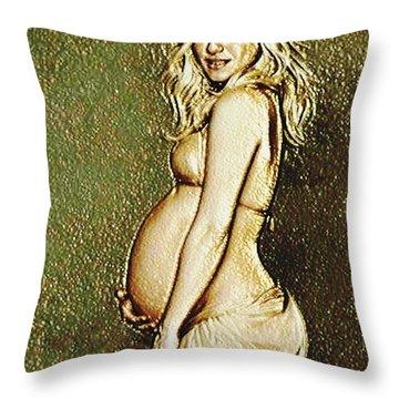 Shakira Baby Throw Pillow by Piety Dsilva