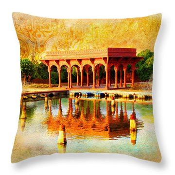 Shalimar Gardens Throw Pillow by Catf
