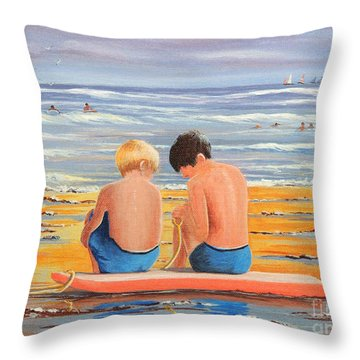 Sharing Is Caring Throw Pillow by Bill Holkham