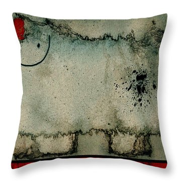 Sheep Or Not So - Bb06 Throw Pillow by Variance Collections