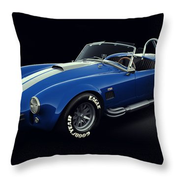 Shelby Cobra 427 - Bolt Throw Pillow by Marc Orphanos