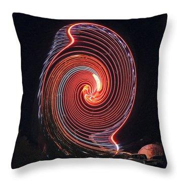 Shell Swirl Throw Pillow by Marian Bell