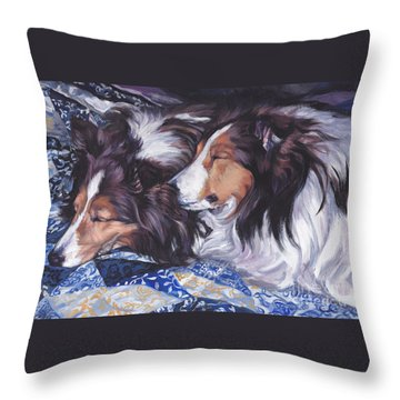 Sheltie Love Throw Pillow by Lee Ann Shepard
