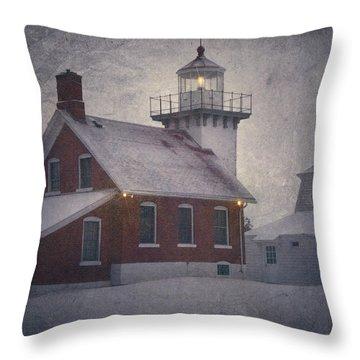 Sherwood Point Light Throw Pillow by Joan Carroll