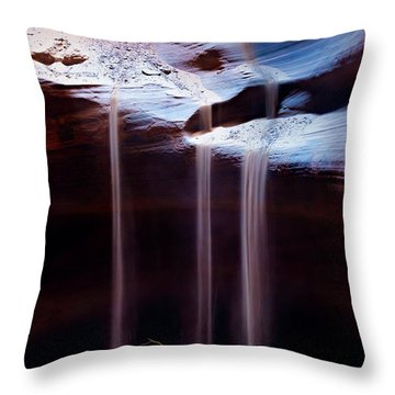 Shifting Sands Throw Pillow by Dave Bowman