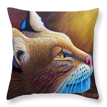 Shine Throw Pillow by Brian  Commerford
