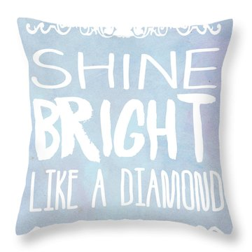 Shine Bright Blue Throw Pillow by Pati Photography
