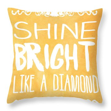 Shine Bright Orange Throw Pillow by Pati Photography