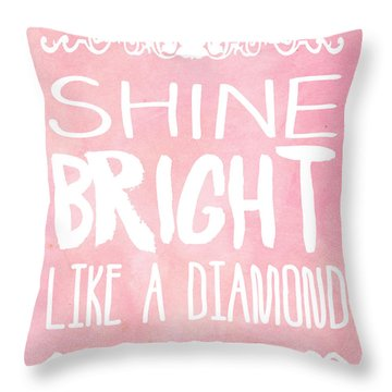 Shine Bright Throw Pillow by Pati Photography