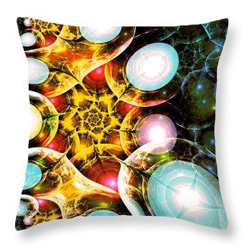 Shining Colors Throw Pillow by Anastasiya Malakhova