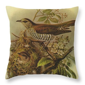 Shining Cuckoo Throw Pillow by J G Keulemans