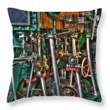 Ship Engine Throw Pillow by Heiko Koehrer-Wagner