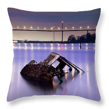Ship Wreck Throw Pillow by Grant Glendinning